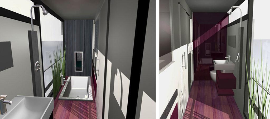 sea 7 design, houseboat, bathroom interior