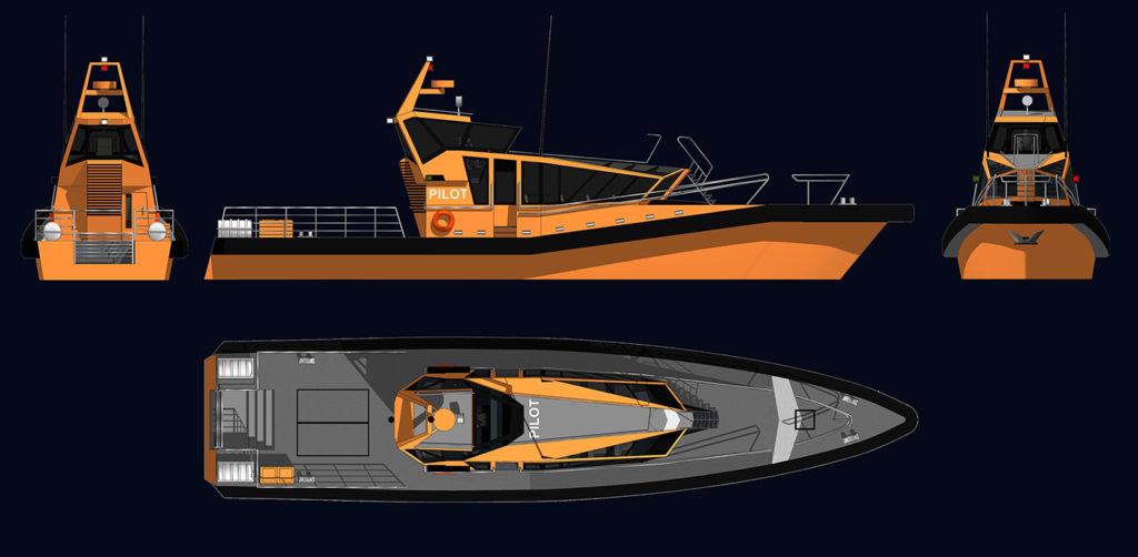 sea 7 design, port pilot vessel, views of exterior