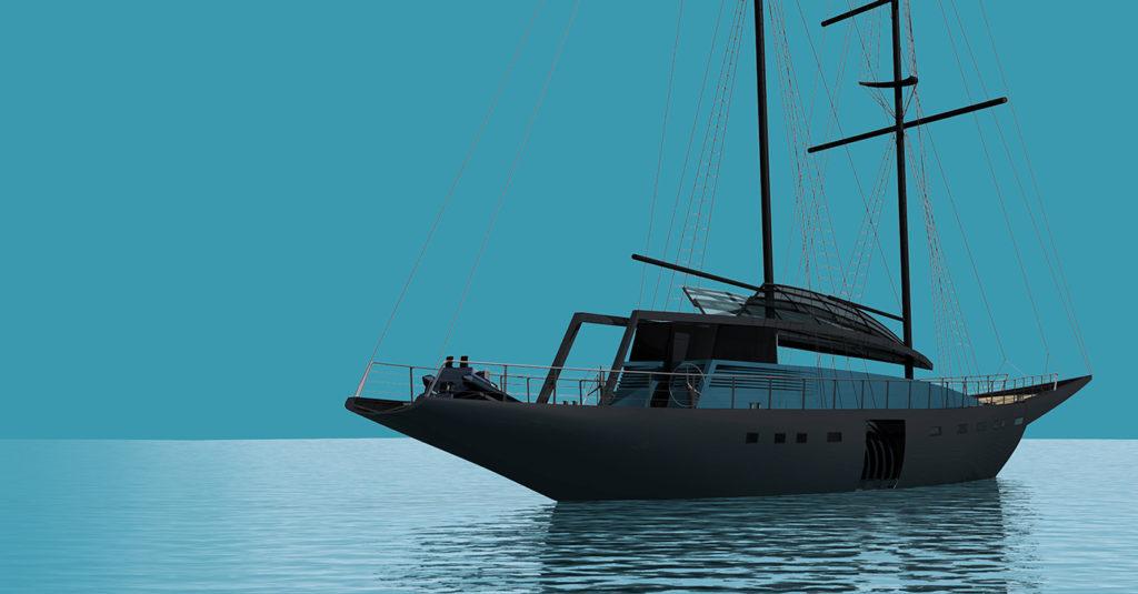 sea 7 design, tropical yacht, silhouette 02